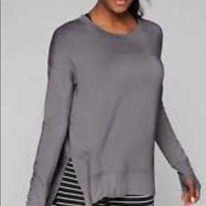 Athleta Pebble Grey Coastal Luxe Sweatshirt Size S